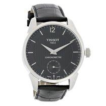 Tissot T-Complication Men Black Leather Swiss Automatic Watch...