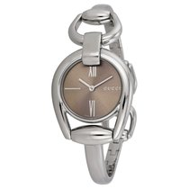 Gucci Horsebit Collection Brown Dial Ladies Watch YA139501