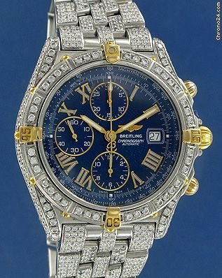 Breitling Crosswind Gold/Steel/Diamonds Custom made -- ON HOLD --