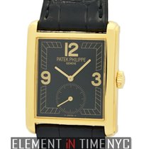 Patek Philippe Gondolo 18k Yellow Gold Black Dial Manual Wind...