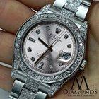 Rolex Watch Datejust Ii 116334 41mm Pink Dial Diamond Case,...