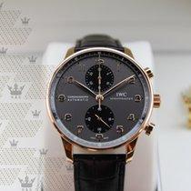 IWC IW371482 Portugieser Grey Dial Chronograph Rose Gold