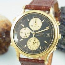 Seiko Alarm Chronograph Stahl / Vergoldet Herrenuhr