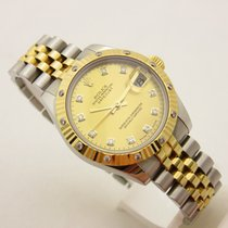 Rolex Datejust unisex acc/oro mother of pearl dial diamond 178313