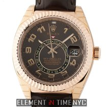Rolex Sky-Dweller 18k Rose Gold Chocolate Dial  Ref. 326135