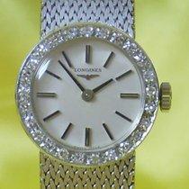 Longines vintage lady diamonds 18 kt white gold rare