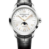 Baume & Mercier 10055 Clifton Moonphase 43mm in Steel - on...
