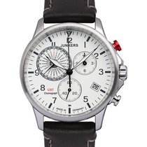 Junkers Worldtimer Swiss Eta Quartz Watch 42mm S/s Case White...