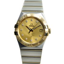 Omega Constellation 18k Gold Steel Gold Automatic 123.20.35.20...