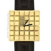 Chopard 18k yellow gold ladies Cube watch