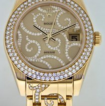 "Rolex Mid-Size Masterpiece Yellow Gold With ""Arabesque Design"