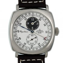 Zeno-Watch Basel Regulateur Zeigerdatum Stahl Handaufzug...
