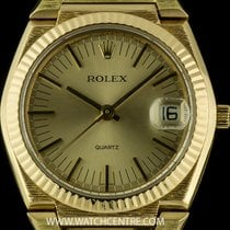 Rolex 18k Y/G Rare Champagne Dial Bark Finish Vintage Beta 21...
