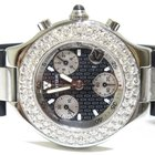Cartier 21 Chronograph Rubber/Stainless 2.80ct White Diamond...