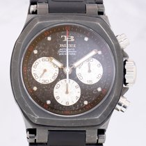 TB Buti Yanick II Black Chronograph Automatic Diamond Dial Rocker