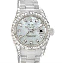 Rolex President Ladies 18k Gold Diamond Watch 179159