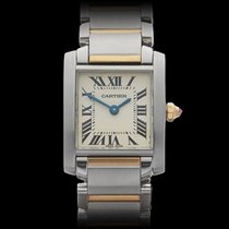 Cartier Tank Francaise Pink Sapphire Stainless Steel/18k...