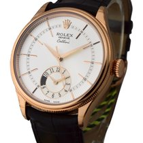 Rolex Unworn 50525-SLV Cellini Dual Time in Rose Gold - On...