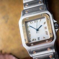 Cartier Santos Two Tone Steel/18k Gold Date Quartz