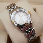 Breitling Callistino Lady Gold Steel Pilotband Silver Dial (30...