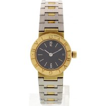 Bulgari Ladies  18k Yellow Gold And Stainless Steel BB 23 GSD