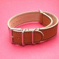 Nato-Leder-Armband 22mm, Länge 270mm Farbe: Natur