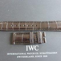IWC 20mm black crocodile strap bracelet for deployment buckle