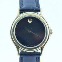 Movado Museum Herren Watch Uhr Rar Stahl Vergoldet Top Quartz...