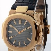 Patek Philippe Nautilus 18k Rose Gold Mens Automatic Watch 5711R