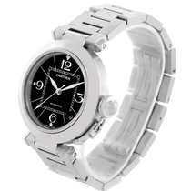 Cartier Pasha C Medium Black Dial Stainless Steel Date Watch...