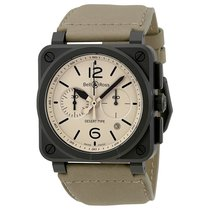 Bell & Ross Aviation Desert Type Beige Dial Chronograph...