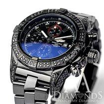 Breitling Super Avenger Chronograph Stainless Steel With Black...