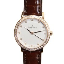 Blancpain Villeret 18 K Rose Gold With Diamonds White Automati...