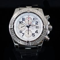 Breitling Super Avenger White Dial 48MM Steel with Steel Bezel