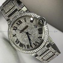 Cartier - Baloon Bleu Customized Diamond Bezel & Bracelet...