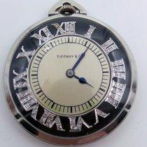 Tiffany & Co. Platinum Open Face Pocket Watch Diamond...