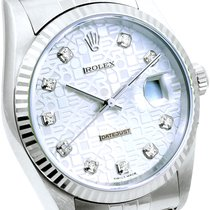 Rolex SS Datejust Factory Jubilee Diamond Dial 16234 Papers