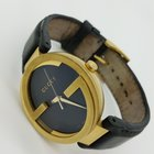 Gucci LATIN GRAMMY'S   BLACK Gold Plated STEEL Genuine Leather...