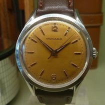 Movado vintage meca steel ref 2890 mvt 6236 screwback case