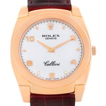 Rolex Cellini Cestello 18k Rose Gold White Dial Watch 5330