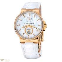 Ulysse Nardin Maxi Marine Chronometer 18K Rose Gold Ladies Watch