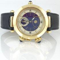 Cartier Pasha  Mondphase Moondate Alarm 18K Gold Quarz 38mm
