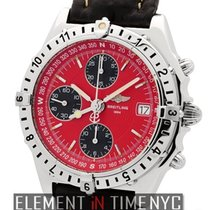 Breitling Chronomat Longitude Chronograph Red Dial Ref. A20048