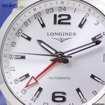 Longines Men's Conquest GMT Automatic 41mm Steel on Steel...