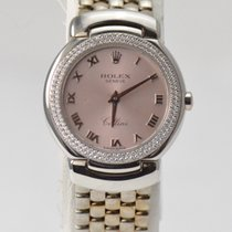 Rolex 18K White Gold Cellini Cellissima Diamond Bezel Pink Dial