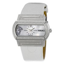 Versace Hippodrome Mother of Pearl Diamond Ladies Watch