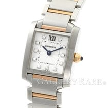 Cartier Tank Francaise SM Diamond Index Steel Pink Gold 20.25MM