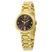 Bulova Diamond Gallery Mother of Pearl Dial Gold-plated Ladies...