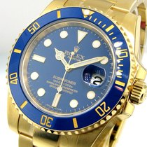 Rolex Submariner 116618 18k Yellow Gold Ceramic Blue Dial