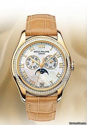 Patek Philippe 4936J ANNUAL CALENDAR MOONPHASE YELLOW GOLD w DIAMOND BEZEL sold on Chrono24
